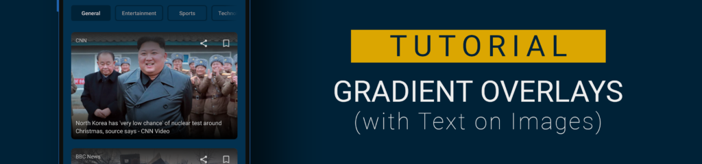 Android tutorial gradient overlays