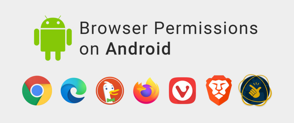 Browser permissions on Android