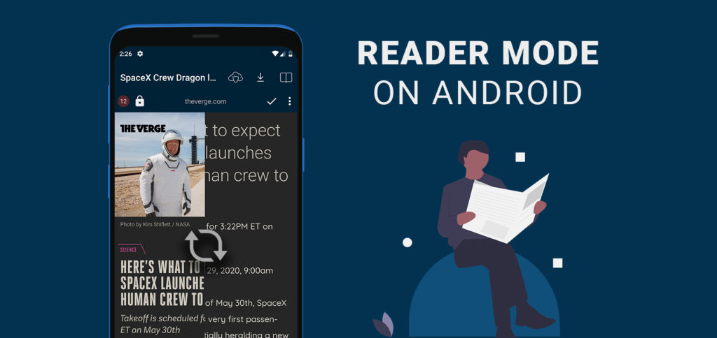 Reader mode on Android