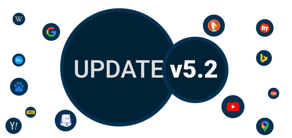 update v5.2 search engines for android